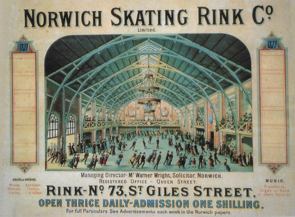 Victorian roller skating rink event poster