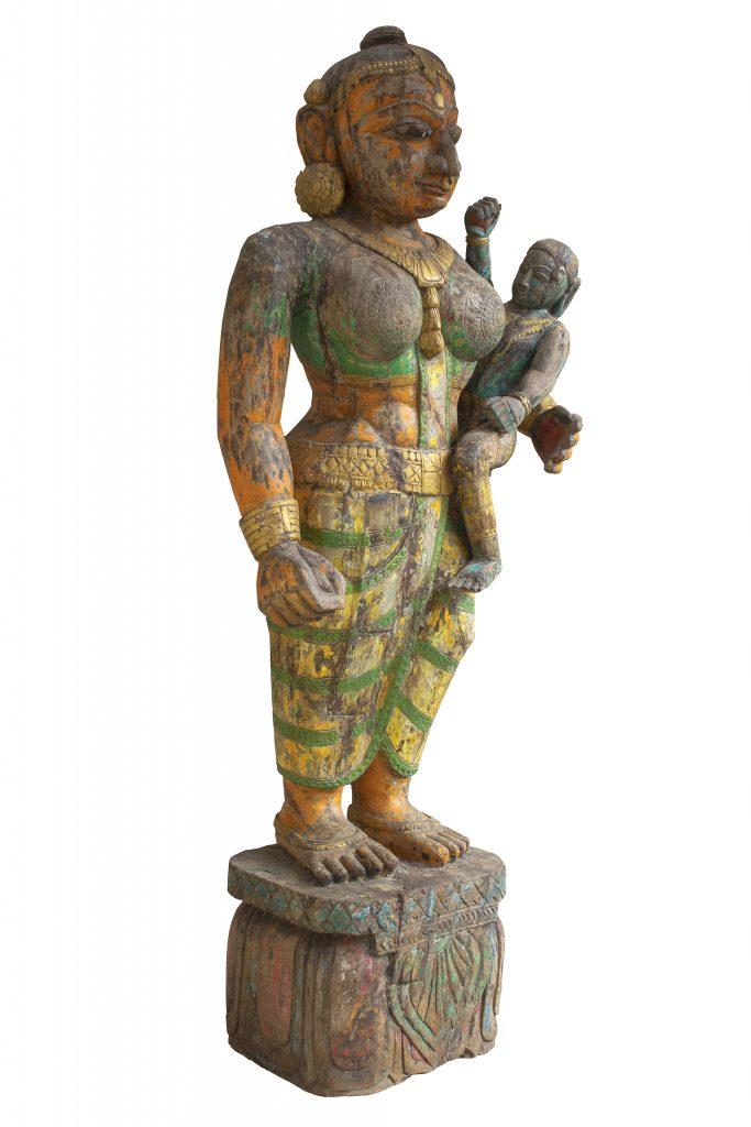 Carved Yashoda Figure